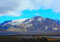 Вулкан Престахнукюр на острове Исландия высота 1400 м.